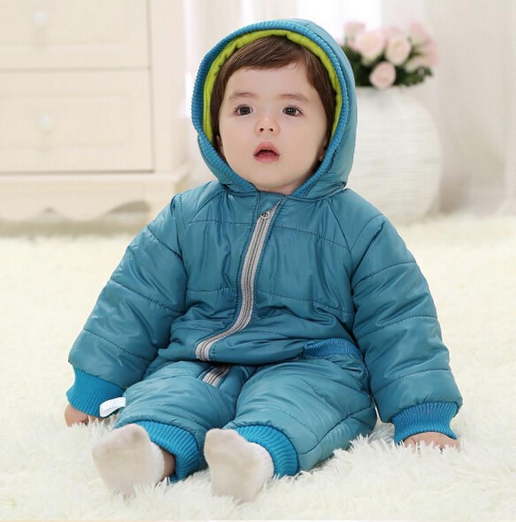 9-24Months Baby Winter Clothes Girl Boy Romper Warm Russian Baby Winter Jumpsuit Skiing Outerwear Clothing Colorful Snowsuit (20)