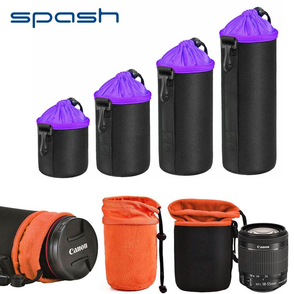 Spash 1 pc Lente Da Câmera Saco de Neoprene Grosso Bolsa de Protecção Soft Case Protetora para Canon Nikon Sony Pentax Olympus Panasonic
