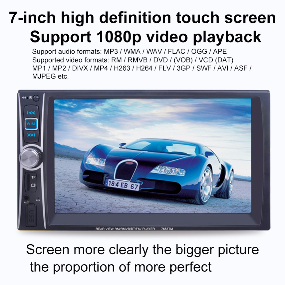 Free shipping Spot 6.6 inch mobile phone Internet HD car dual dual MP5 player MP4 Bluetooth player U disk SD7653TM plastic mp4 player shell mold makers