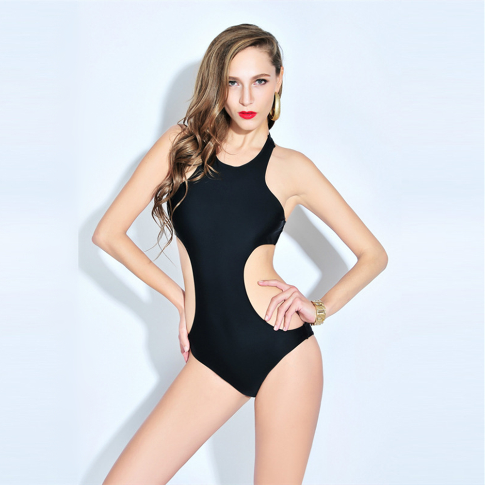 2017 Summer Sexy Push Up Bodysuit One Piece Swimsuit Swimwear Women Monokini Swim Bathing Suits Beachwear Halter Top Wholesale one piece swimsuit cheap sexy bathing suits may beach girls plus size swimwear 2017 new korean shiny lace halter badpakken