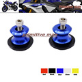 For YAMAHA YZF R1 YZFR1 1998-2014 , R6 1999-2014 , FZ1 FZ6 FZ6R Motorcycle  Swingarm Spools slider 6mm stand screws Blue