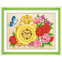 5D DIY Diamond Embroidery Flower Clock Cross Stitch Picture Home Decor Diamond Painting Moasic Picture Gift