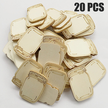 20 Pcs Bottle Shapes Wooden for Craft DIY Embellishments Scr