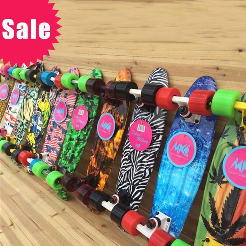 New Floral Printed Peny Style Board Pnny Style Skateboard Complete Retro Girl Boy Cruiser Mini Longboard Skate Fish Long Board