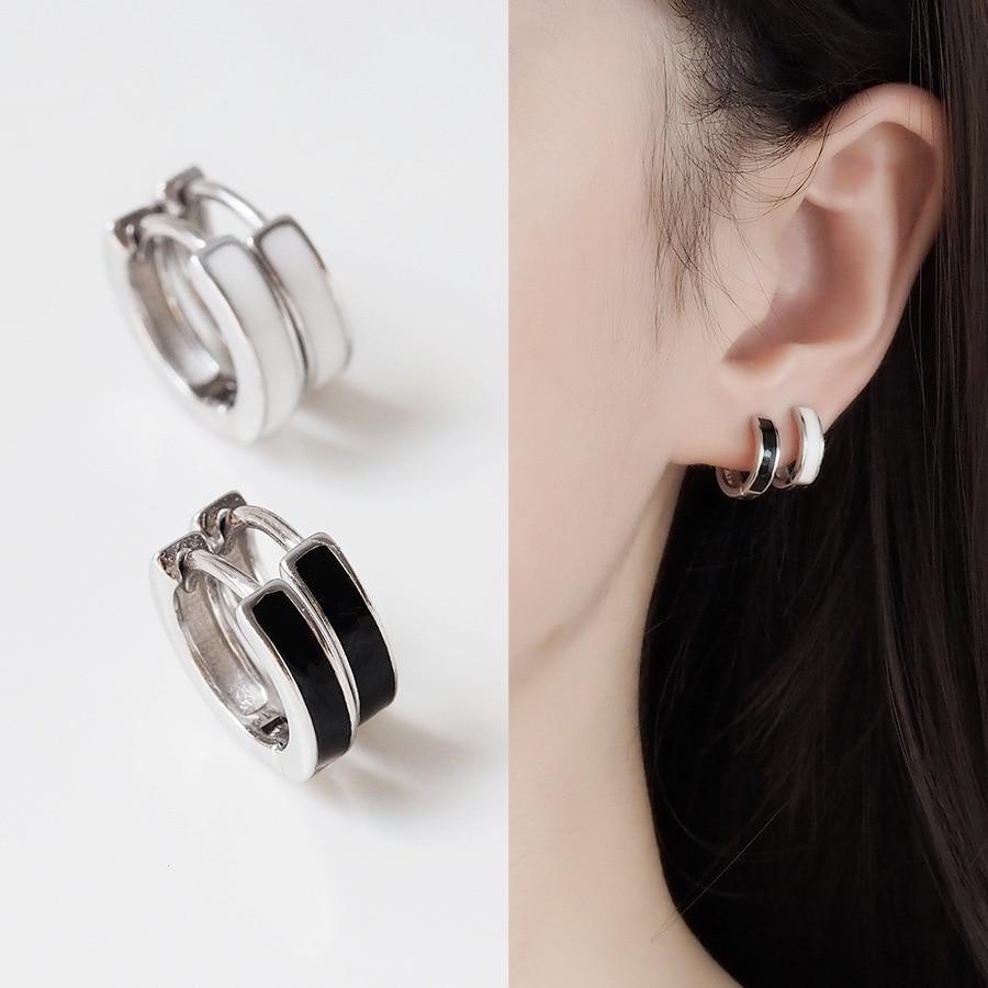 DIEERLAN Trendy Real 925 Sterling Silver Circle Hoop Earrings For Women Wedding Jewelry Large Round Earrings Brincos Pendientes