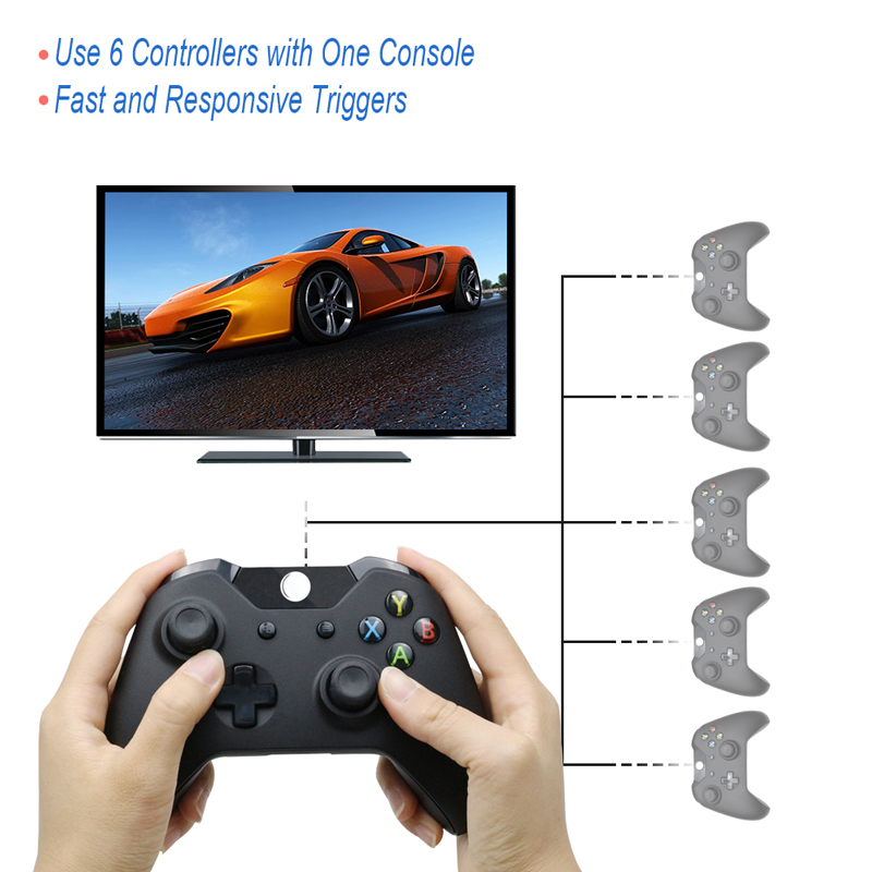 Image 5 - For Xbox one Bluetooth Wireless Controller For Xbox One Slim Console For Windows PC Black/White Joystick-in Gamepads from Consumer Electronics