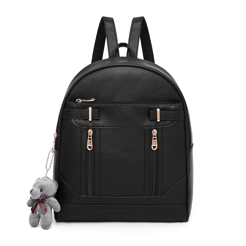 Fashion Women Backpack High Quality Leather School Shoulder Bag For Teenagers Girls Tote Bags Vintage Female Backpacks Mochila in Backpacks from Luggage Bags