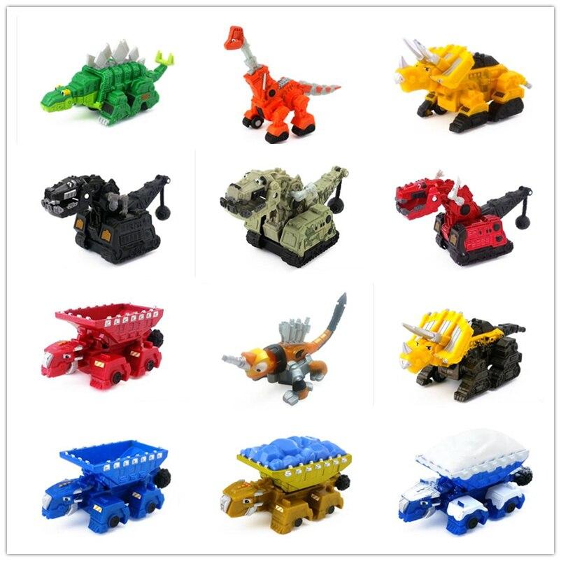 FGHGF Dinotruxs Dinossauro Caminhão Rollodon TY Rux Dozer Skya Ton-Ton Scoot Pounder Garby Figuras Para Kidy Presente