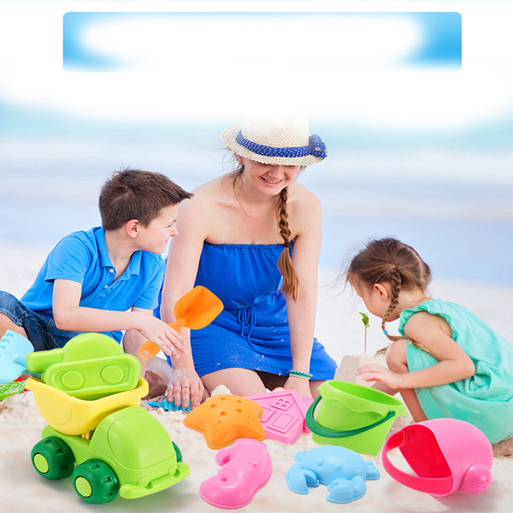 Kids Simulate Car Shovel Kettle Rake Toys Set For Outdoor Beach Sand Playing Beach/sand Toys Pools & Water Fun