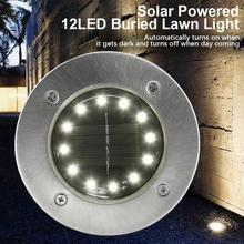 Solar 12LED Buried Garden Light Lawn Ground Light Waterproof Landscape Light Ground Yard Path Lamp For Yard Driveway Lawn Road цены