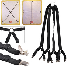 1 комплект крест-накрест Регулируемая Кровать Простыня ремни-подтяжки захват держатель крепеж зажимы кусачки комплект TT-best