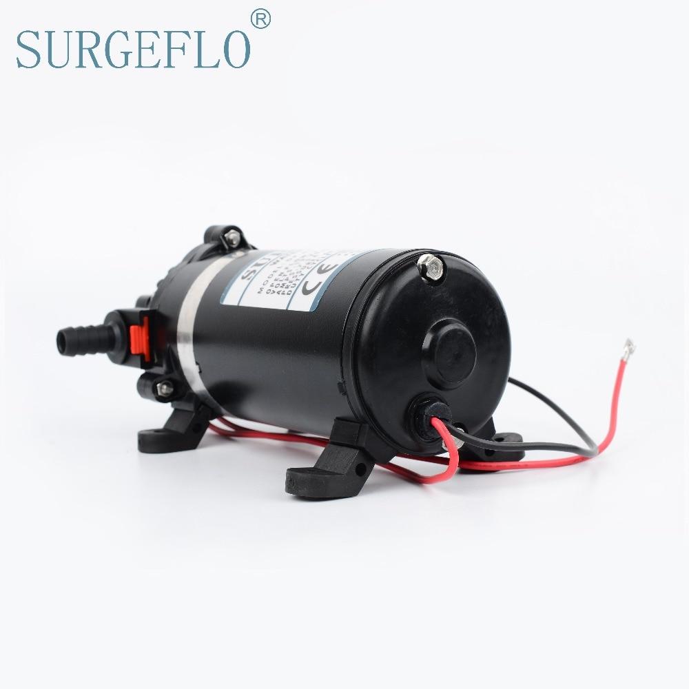 SURGEFLO 12V 24V DC 108W Electric High Pressure Diaphragm Pump Self-Priming Spray Car Wash Water Purifiers DP-100 high pressure pumps dc 12v dc micro diaphragm pump priming pump spray pump