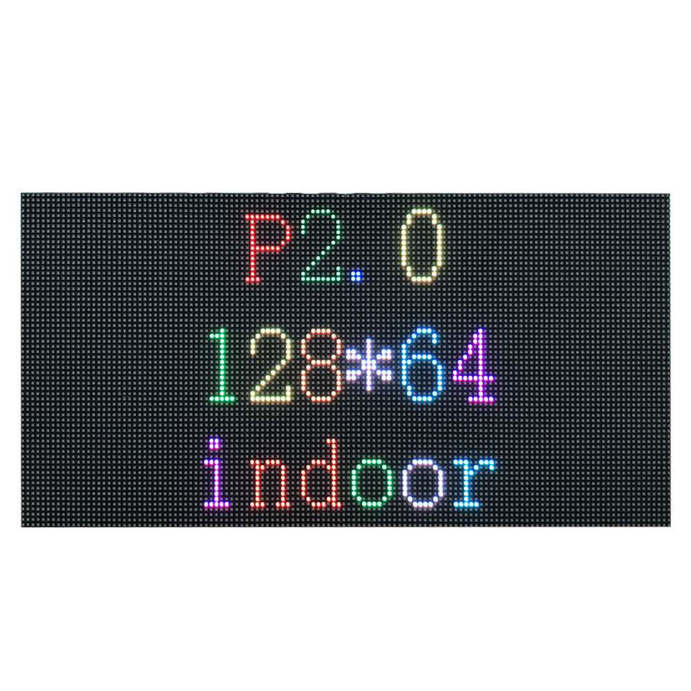 P2 LED Panel Indoor 128*64 Pixel P2 LED Module Full Color 256*128mm