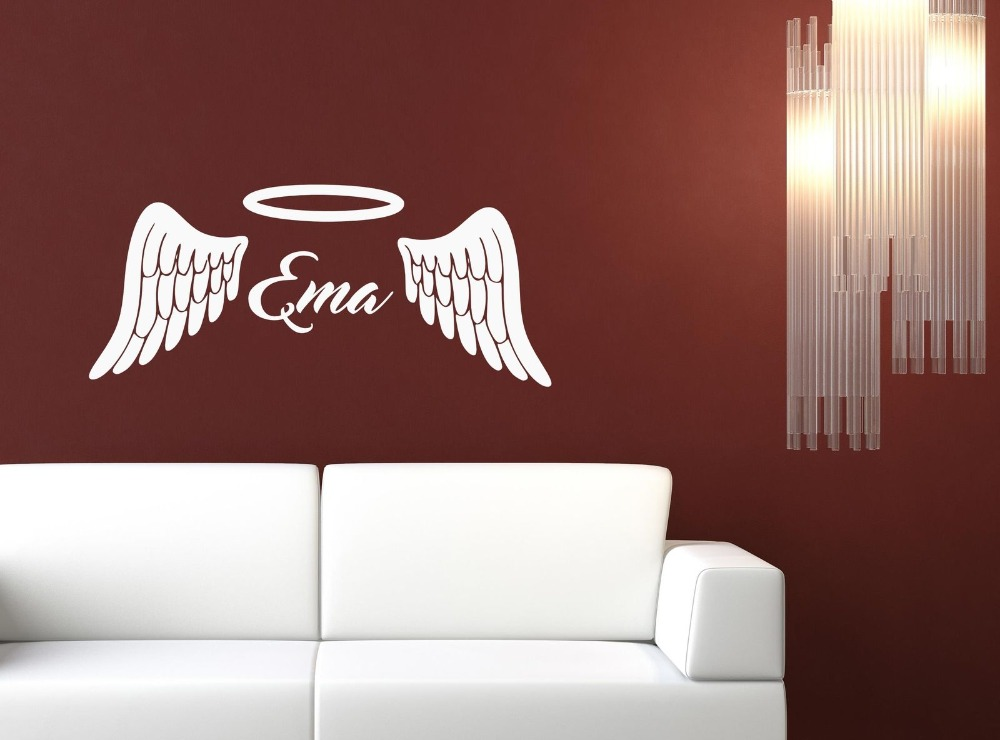 2016 Hot Fashionable Personalized Angel Wings Halo Customized Name