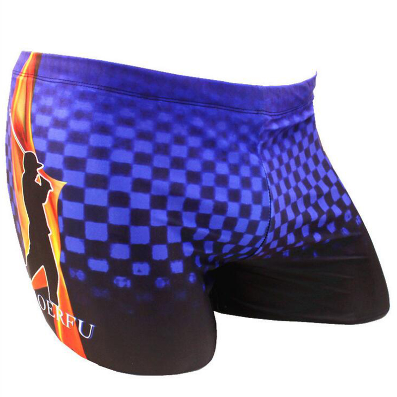Blue Grids Golf Print Adults Men Male Swimming Suit Swimwear Swim Pool Pants Wear Boxer Shorts Briefs Trunks Swimsuit Beachwear