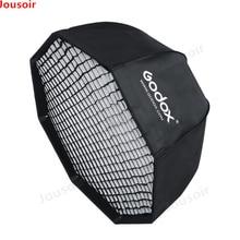 Godox SB-UE 120см 47-дюймовый портативный восьмиугольный софтбокс зонтика с сотовой решеткой для Bowens Mount Studio Flash Softbox CD50
