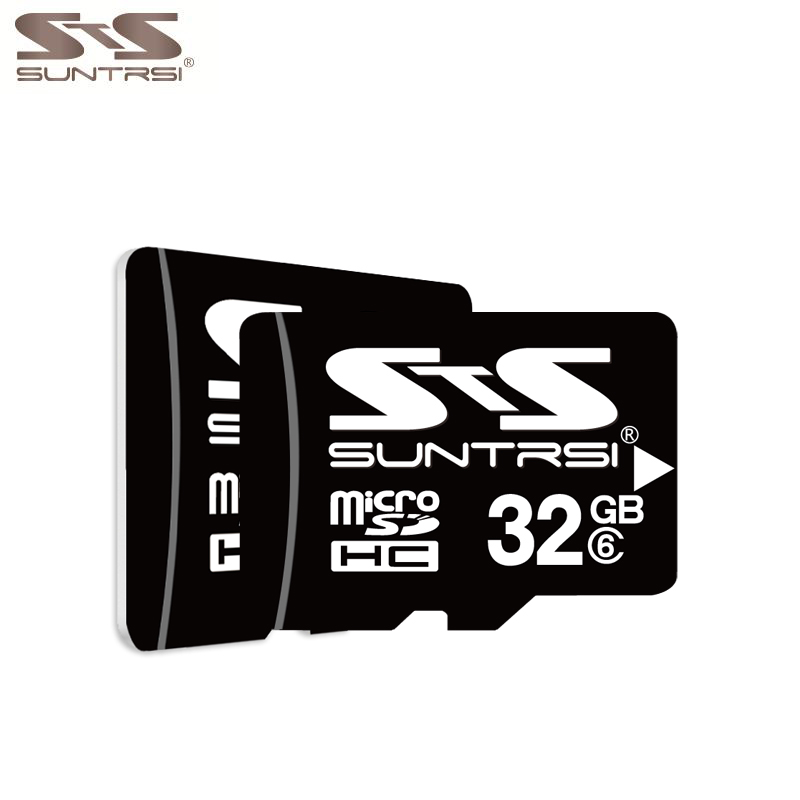 Suntrsi 64GB Micro SD Card Class 6 Memory Card 32GB High Speed Microsd TF Card 16GB 8GB 4GB Original Microsd for Phones Cameras ourspop dm 12 micro tf memory card black 4gb class 4