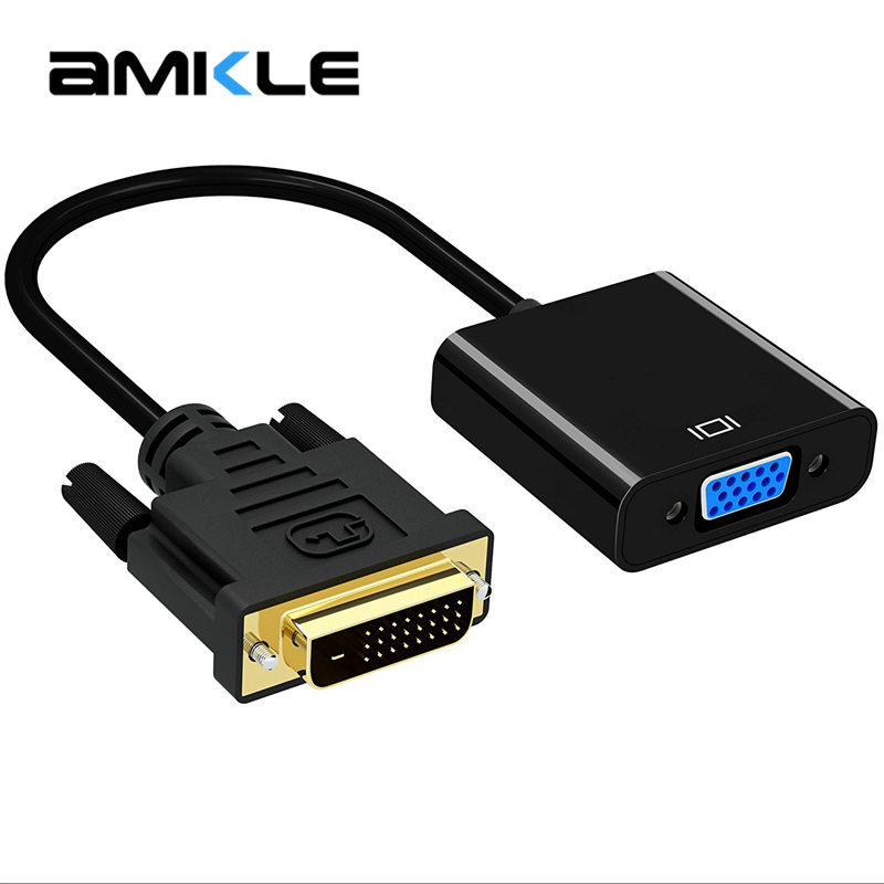 Amkle 1080P <font><b>DVI</b></font>-<font><b>D</b></font> zu <font><b>VGA</b></font> Adapter Kabel <font><b>DVI</b></font> 24 + 1 25 Pin <font><b>DVI</b></font> Stecker auf <font><b>VGA</b></font> BUCHSE Video konverter Adapter für TV PS3 PS4 PC Display image