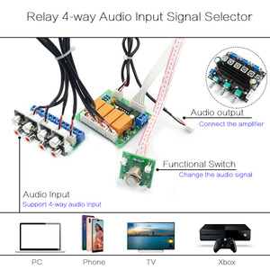 Image 5 - CIRMECH ממסר 4 דרך אודיו קלט אות בורר מיתוג RCA אודיו קלט לוח בחירת של כפתור מתג למגברים