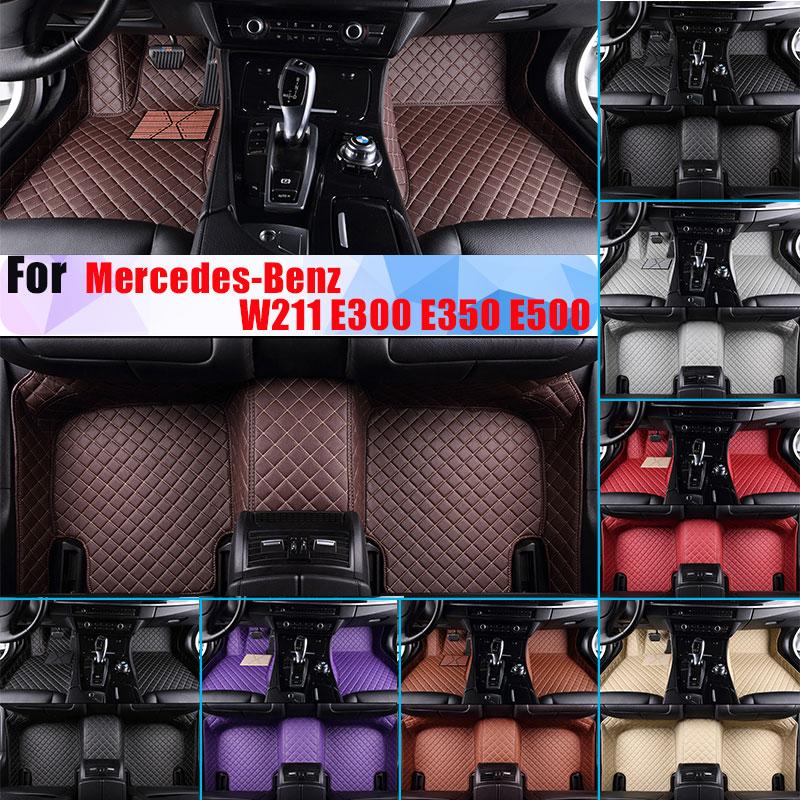 Водонепроницаемые автомобильные коврики для Mercedes Benz W211 E300 E350 E500 всесезонные автомобильные лайнеры из искусственной кожи, полностью окруже