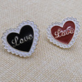 "Fashion new letter ""LOVE LOVE"" LOVE black/red brooch Japan and South Korea style badges wholesale manufacturers selling"
