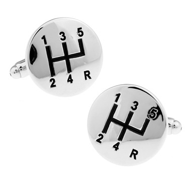 New Arrival High Quality Gift for Men Designer Cuff links Copper Material Round Car Stalls Design Enamel CuffLinks Free Shipping
