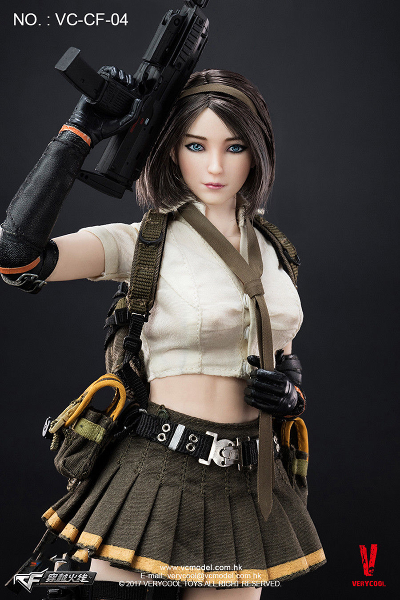 Full set VERYCOOL VC-CF-04 1:6 Scale Cross Fire Double Agent ZERO Figure collection Model Toy Doll Gift 1