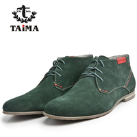 Size 38 43 Brand TAIMA Casual Men Shoes Lace Up Wear Comfortable Men Suede Leather Shoes