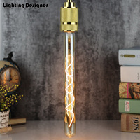 T28 300mm T9 Tube Edison Bulb E27 Bar Led Bulb Spiral Holiday Light 220V 6W Novelty