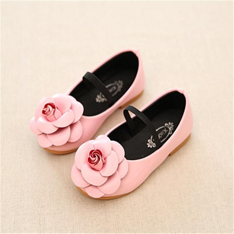 Children Shoes Girls Princess Hotsale Cute Flower Pink Toddler Little Dance Designer Kids Shoes For Girls Size 21-36