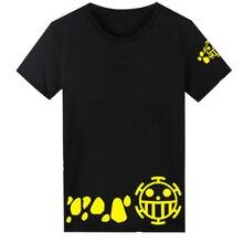 One Piece Cosplay Death Surgeon Trafalgar Law Costume Unisex Short-Sleeved Tee Shirt Cotton T-Shirt Tops Summer Wear