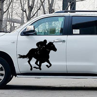 58cm x 50.27cm 2 x Running Horse Gallop (one For Each Side)Car Sticker For Cars Side, Truck Window,SUV Door Vinyl Decal 8 Colors