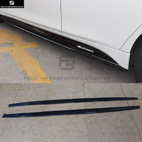 F30 3 серии 328i MP Стиль углеродного волокна автомобиля боковые юбки для BMW F30 328i 320i 330i Автомобиль Стайлинг 13 18