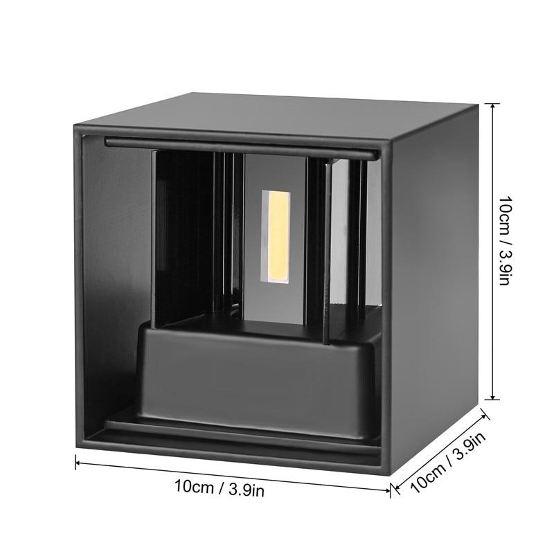 Führte Wand Licht Ip65 10 W Wasserdichte Outdoor Indoor Led Wand Lampe Moderne Aluminium Einstellbare Winkel Ac90 ~ 260 V Veranda Licht Zbw0002 Led-lampen Led-innenwandleuchten