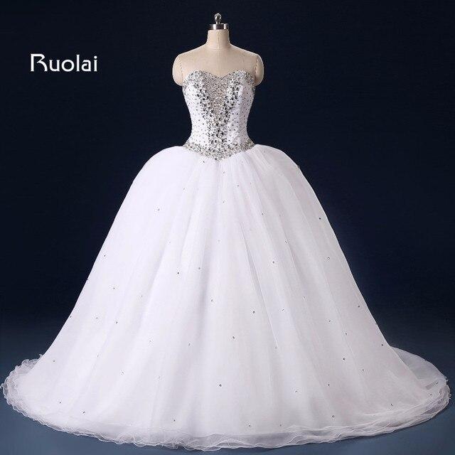 Sexy Echt Bild Liebsten Kristall Perlen Brautkleider Ballkleid ...