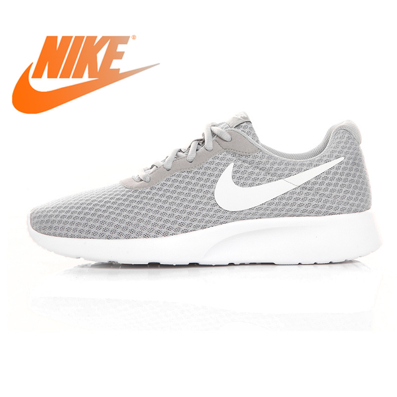 super cute be815 ee2f7 US $81.1 45% OFF|Original Authentic Nike Tanjun Kaishi Roshe Men's and  Women's Running Shoes Grey/Black Shock Absorbing Lightweight Breathable-in  ...