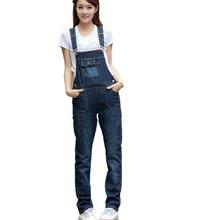 Женские Комбинезон Джинсовые Комбинезоны 2017 Новый джинсовой нагрудник брюки женские свободные подтяжки джинсы комбинезон девушки комбинезоны джинсы