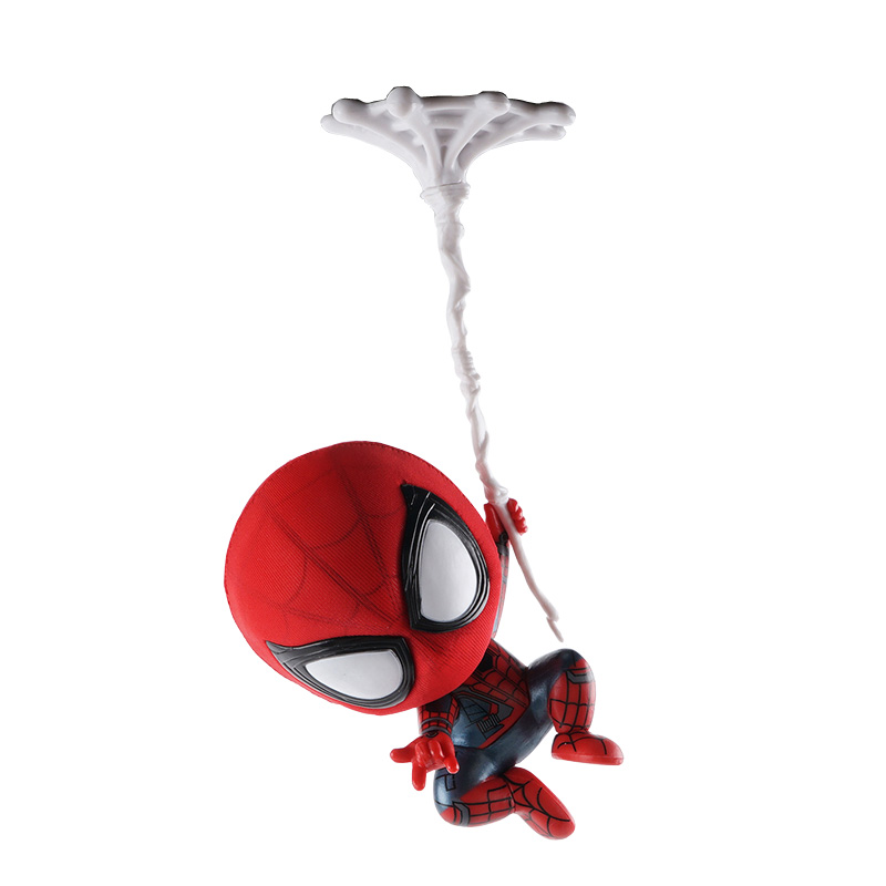 Car Cartoon Spiderman Model Shake Head Toy Resin Ornament Magnet Auto Interior Decoration Doll Accessories Gift action figure