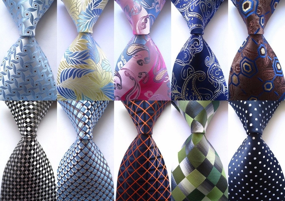 New Classic Paisley Dot Check Floral Mix Color Ties