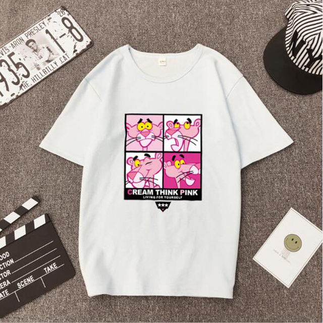 High Quality T shirt Woman Spring Summer Fashion Print Short Sleeve Round Neck Women Tops Casual Loose T-shirt Femme  1