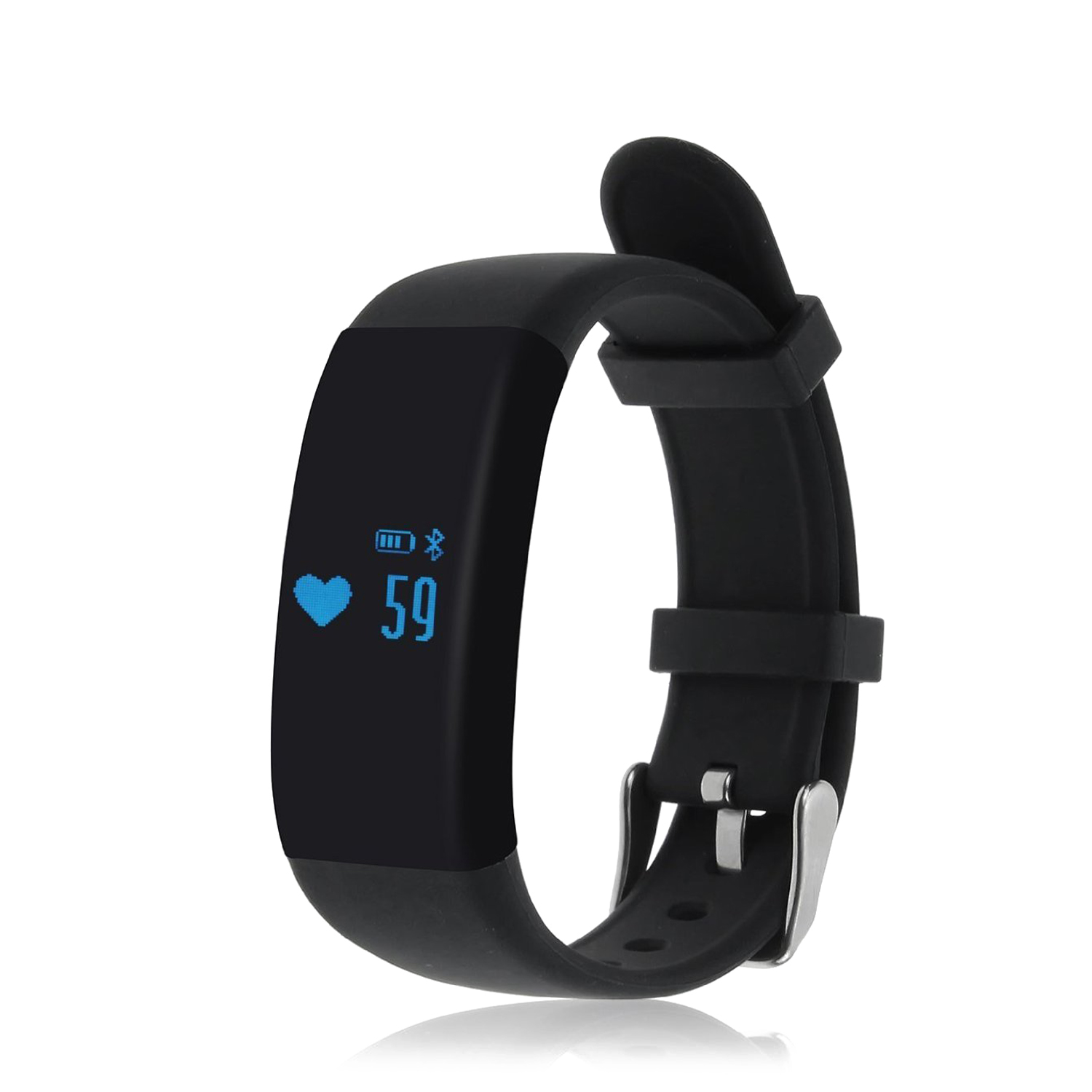 EDT-D21 Fitness Tracker,Touch Screen Accurate Sleeping Monitor Pedometer Smart Band Wireless Activity Wristband (Black)
