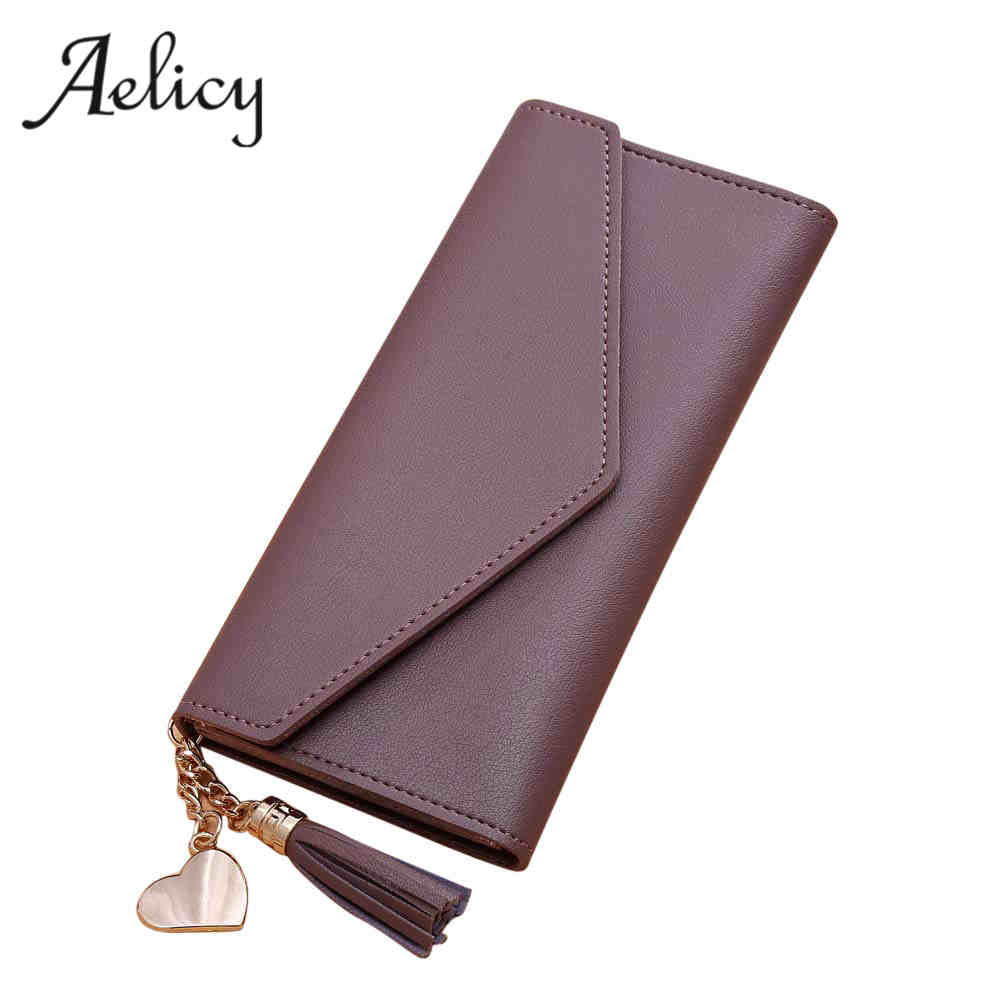 Aelicy Fashion Women Purse Tassel Women Wallet Long Hasp Female Money Bag Brand Lady Wallet Clutch portefeuille femme carteira 2017 unique design women fashion leather wallet leisure clutch bag long purse girl female portefeuille mme a8