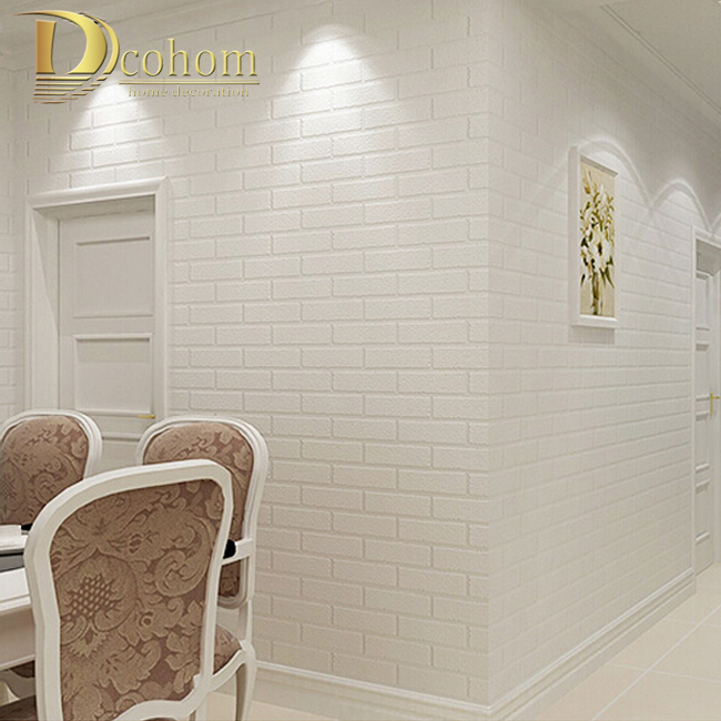 PVC/Vinyl Thickening white brick wallpaper for walls rustic TV background brick wall paper rolls, Papel de parede R211 lowell настенные часы lowell 21465 коллекция настенные часы