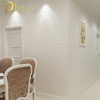 Vinyl Papel De Parede PVC Wallpapers Brick Stacked Stone Wall Paper Roll Textured For TV Sofa