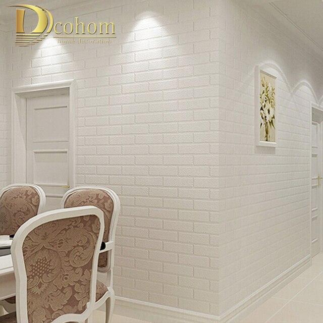 Pvc vinil branco espessamento parede de tijolo para - Pvc para paredes ...