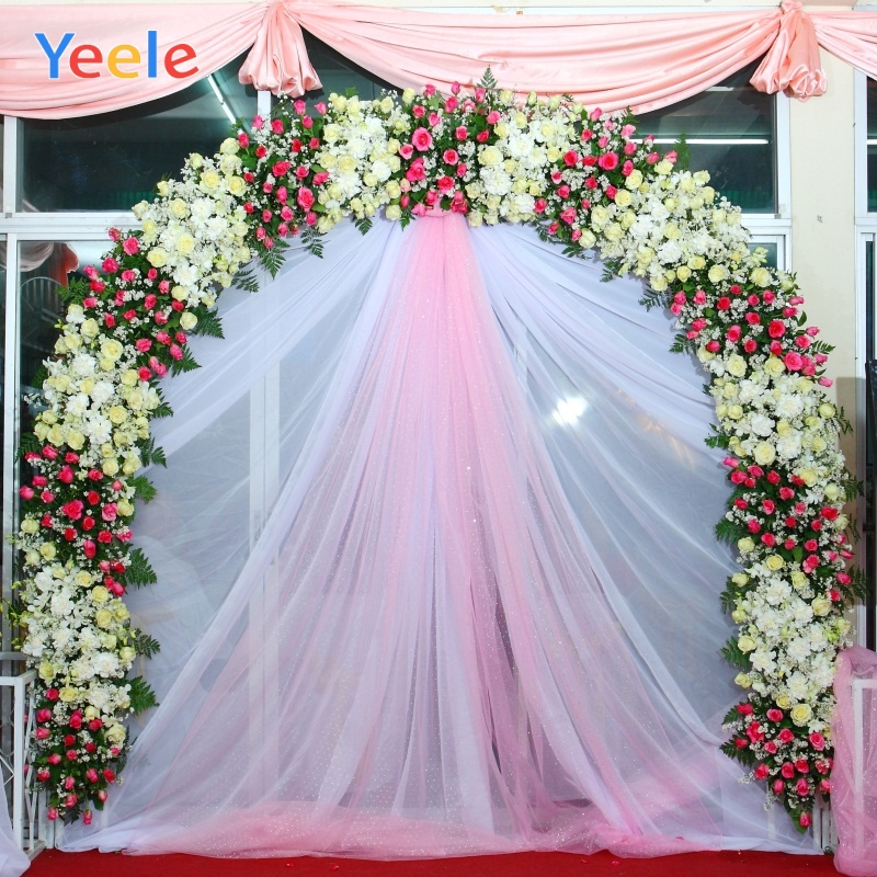 Yeele Wedding Ceremony Family Party Flower Curtain Photography Backdrop Personalized Photographic Backgrounds For Photo Studio