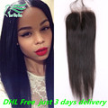 7A Grade 4*4 Virgin Peruvian Hair Silky Straight Lace Closure 100% Unprocessed Human Hair Free/Middle/Side/3 Part Lace Closures