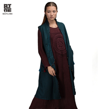 Outline Brand Women Casual Vest In National Trend Autumn Winter Vests Vintage Tassel Outerwear With Women