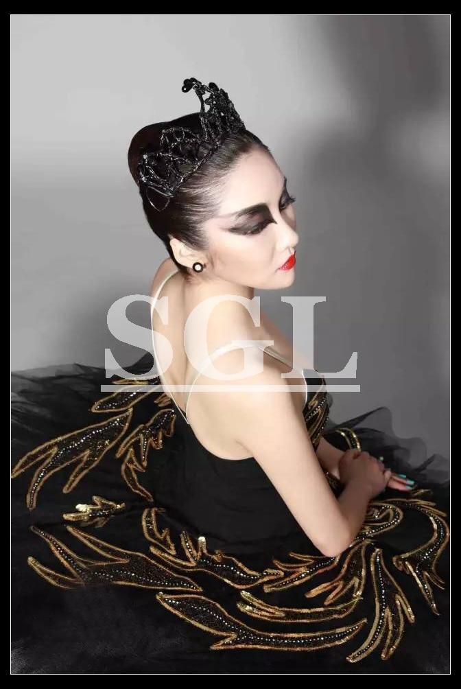 Cisne negro Ballet Tutu Adulto Preto Tutus Para Teste de Desempenho Ballet Profissional Tutu Vestido Feito Sob Medida Trajes BW1128
