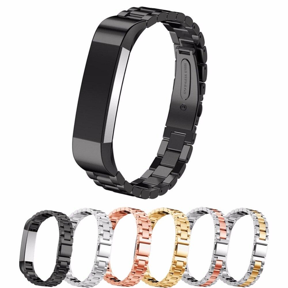 купить Stainless Steel Watch Strap For Fitbit Alta hr band replacement Bracelet Wristband fitbit high watchband fitbit alta accessories по цене 636.02 рублей